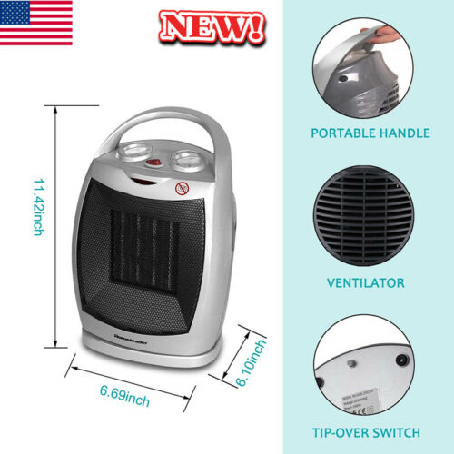 Portable Ceramic Space Heater Electric Heater Home Office He