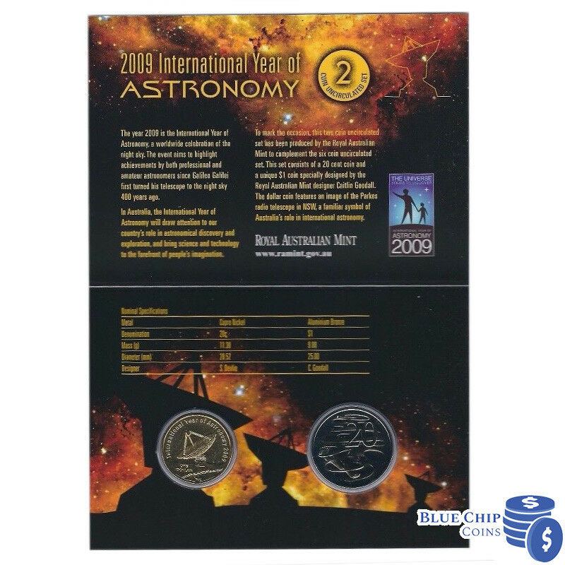 **2009  Australian International Year of Astronomy $1 UNC**
