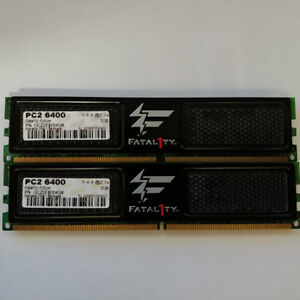2x 2GB kit of DDR2 800 Mhz Memory Sticks