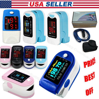 Us Sellerfinger Pulse Oximeterspo2 Blood Oxygen Monitorpulse Heart Rate Meter
