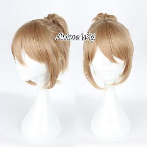 35cm Flaxen Prince of STRIDE Yagami Riku Heat Resistant Cosplay Wig + Ponytail