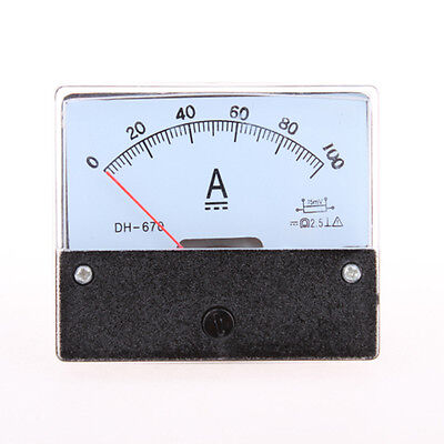 Analog Amp Panel Meter Current Ammeter Dc 0-100a Qc Dh-670