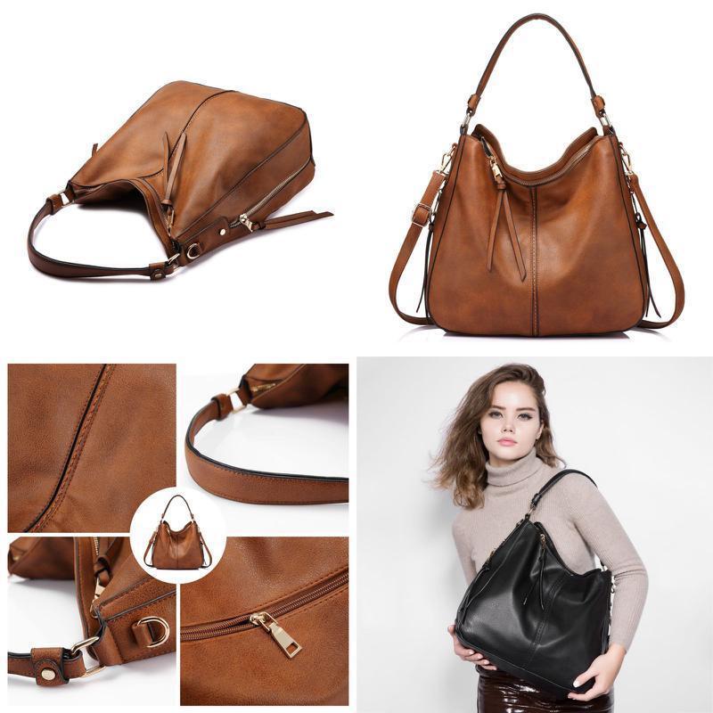 Women Large Hobo Handbags Leather WomenS Bag Vintage Slouchy Purse Shoulde New