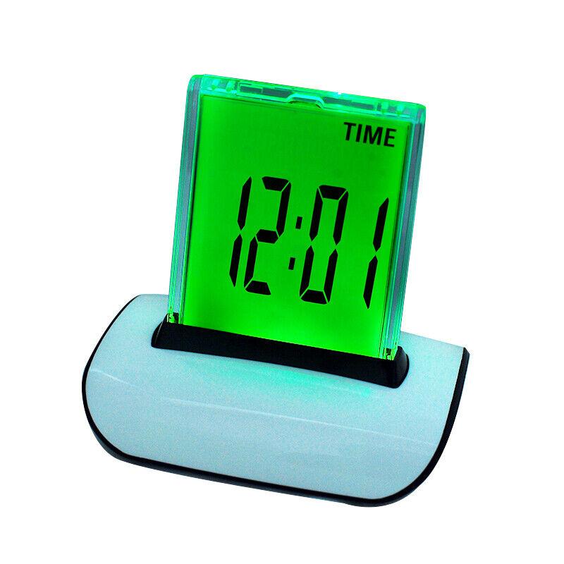 Safty LED Digital Alarm Clock Changing Thermometer LCD Desk