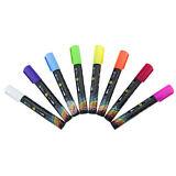 8 pcs 6mm Highlighter Fluorescent Liquid Chalk Marker Pen for LED Writing Board