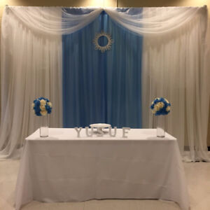 wedding backdrops affordable price!! + king and queen chairs