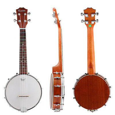 Kmise Konzert Banjo Ukulele Banjolele Uke 4 String 23 Zoll für Anfänger
