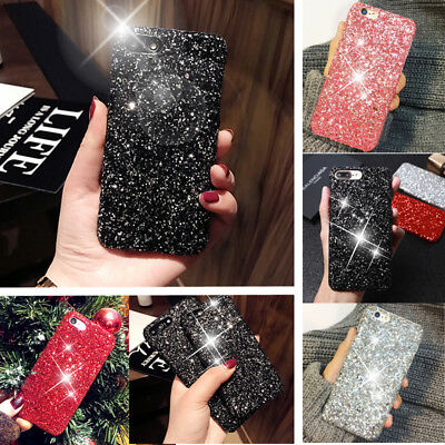 Luxury Shockproof Bling Glitter Sparkle Hard case Cover For iPhone X 7 Plus 6s 8
