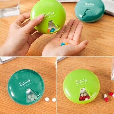Plastic Round 7 Day Portable Weekly Medicine Organizer Pill·Box Holder Case Cute 7 Day Pill Holder