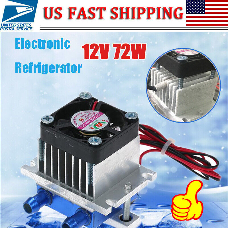12V 72W Thermoelectric Peltier Refrigeration Cooling Cooler Fan System Heatsink