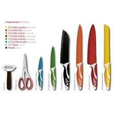 Set de 6 cuchillos con tijeras y pelador