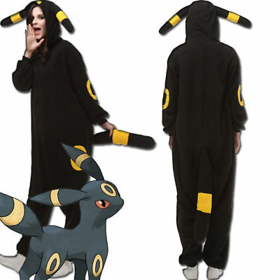kemon Umbreon Pyjamas Anime Kigurumi Cosplay Kostüm DE (Anime Cosplays)