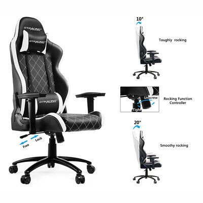 Gtracing Gaming Chair Heavy Duty Ergonomic Racing Video Game Chair With Headrest