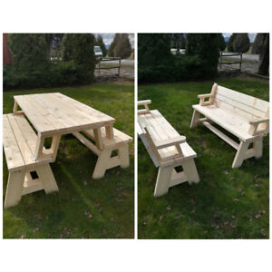 Convertible Picnic Table to benches