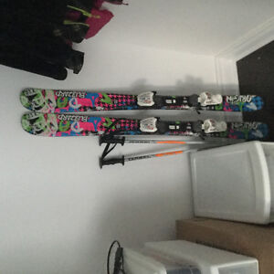 Girls ski equipment