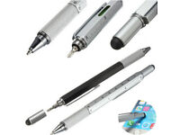 Touch Screen Stylus Pen With Spirit Level Ruler Screwdriver