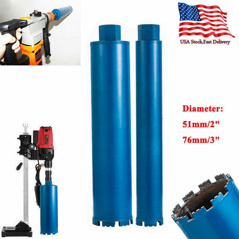 """2"""" 3"""" Wet Diamond Core Drill Bit for Concrete Core Bore Premium Blue Series US"""