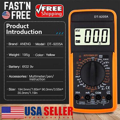 Digital Multimeter Lcd Voltmeter Ammeter Ohmmeter Ohm Volt Tester Usa Seller