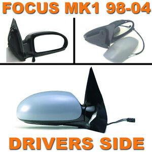 FORD FOCUS MK1 1998-2004 PRIMED ELECTRIC DOOR WING MIRROR DRIVERS SIDE RIGHT O/S