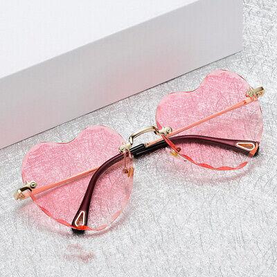 Classic Heart Shaped Rimless Sunglasses Shades Outdoor Eyewear Glasses Unisex](Glass Hearts)