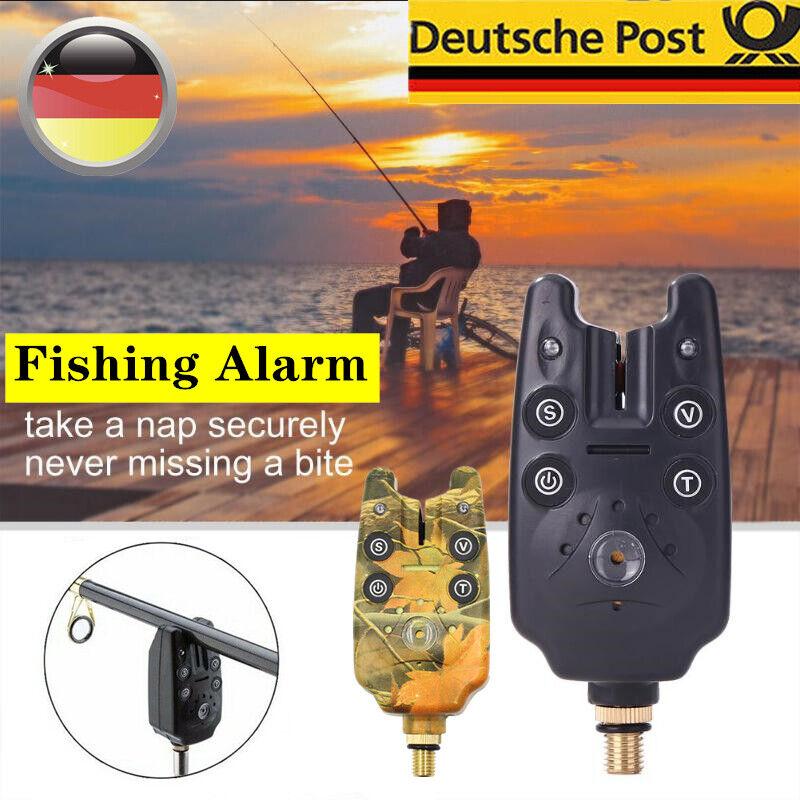 Fische beißen Alarm Stück Karpfenangel Rod Pod LED Elektronischer Bissanzeiger