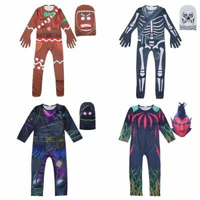Kids Boys Girl Video Game Cosplay Costume Fancy Halloween Party Jumpsuit - Halloween Kid Games