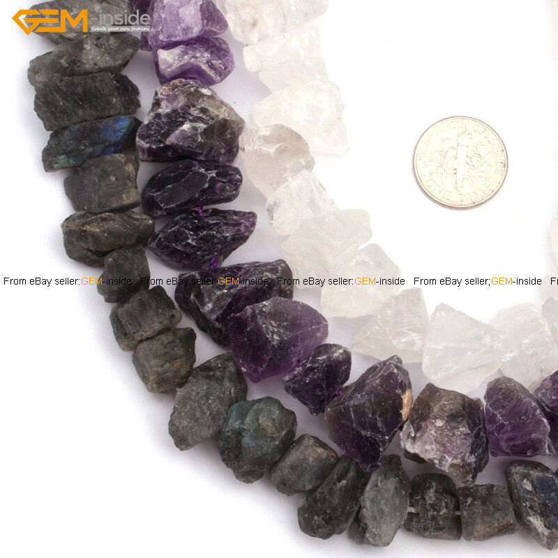 """Natural Stone Quartz Top Drilled Gemstone Beads Freefrom For Jewelry Making 15"""""""
