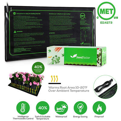 Seedfactor Waterproof Seedling Heat Mat Seed Starter Pad Germination (Propagation Mat)