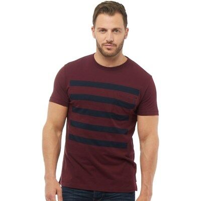 French Connection 5 Stripe T-Shirt Chateaux Marine 2XL TD087 HH 06