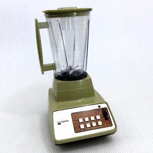 Vintage Avocado Green Blender 8-Speed 48oz 6-Cups Solid State