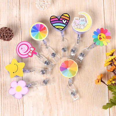 Cartoon Retractable ID Name Badge Reel Pull Clip Key Card Holder Office - Name Card