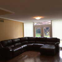NEEDS TO GO ASAP - leather sectional couch with queens chaise