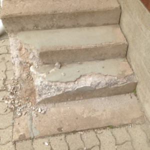 Repair concrete Concrete steps