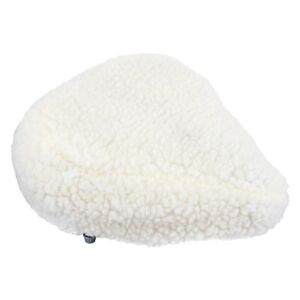 COVER for Bicycle Seat. Imitation Sheepskin.  Padded.  About 10 1/2