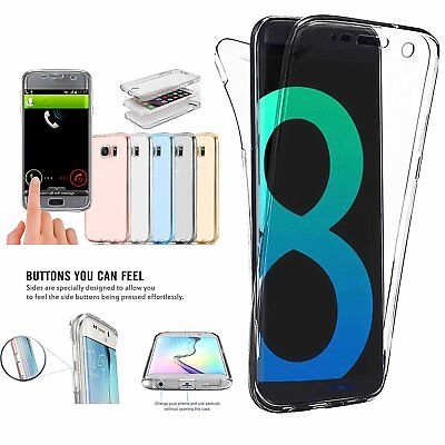Full Body Shockproof Soft Clear TPU Gel Case Cover For Samsung Galaxy S8 S8 Plus