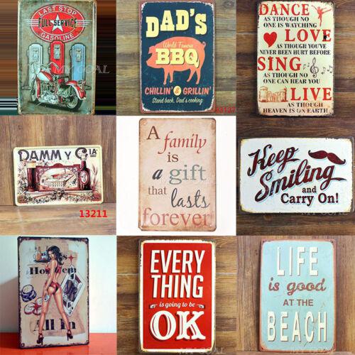 Vintage Metal Proverb Sign Tin Plaque Tavern Bar Home Wall Decor Retro Poster