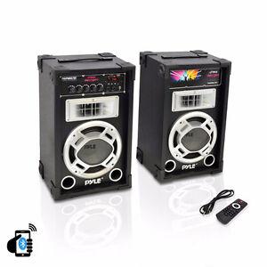 PYLE PSUFM837BT 800-Watt Disco Jam Bluetooth Speaker System WINT