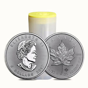 2017 Royal Canadian Mint Maple Leaf Silver Coins - LOW PREMIUMS