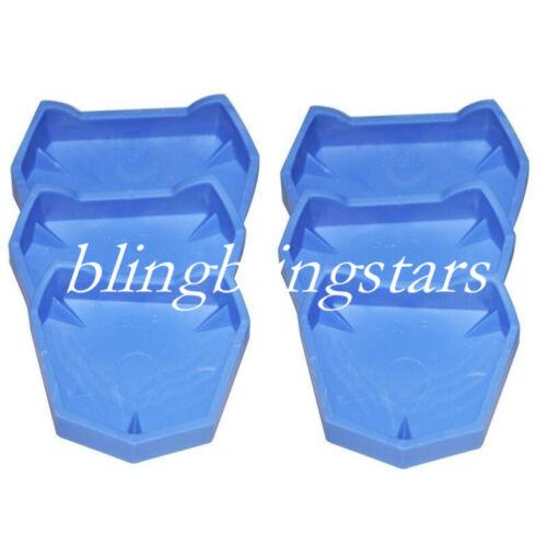 6 Pcs/Kit Dental Plaster Model Former Base Mold Mould Tray Silicone Rubber S/M/L