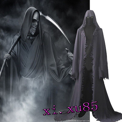 HOT COS Grim Reaper Cosplay Costume Customize Only the Cape Halloween Robe  - The Cape Costume