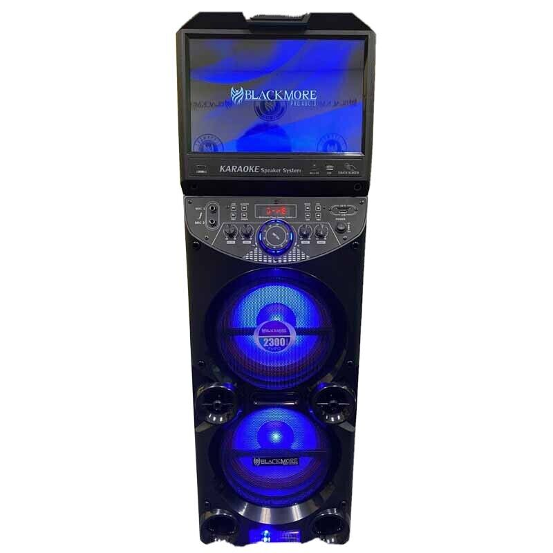 """Blackmore 2x10"""" Home Karaoke System with 15"""" Android Touch Screen Tablet"""