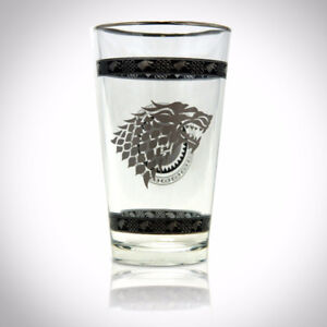 'THE GAME OF THRONES - STARK GREY SIGIL' Glass