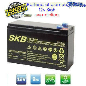 Batteria-Ermetica-Ricaricabile-al-Piombo-12V-Volt-9Ah-per-bici-elettriche
