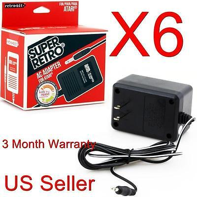 6 Lot Ac Power Supply Adapter Plug Cord For The Atari 260...