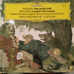 Disque 33 tours - Peter and the Wolf-Carnival of animals