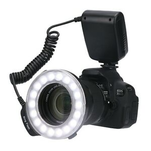 Macro LED Ring Flash Kit w/LCD Display Control for Camera NEW!