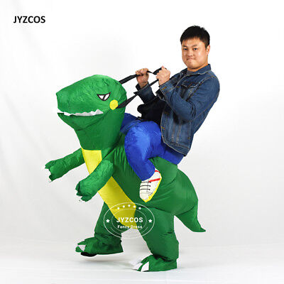 Kids Dinosaur Costumes Adult Ride on Blow Up Inflatable TRex Suit Halloween Xmas