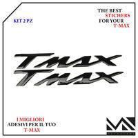 2 ADESIVI RESINATI 3D CARTER FRIZIONE COMPATIBILE TMAX T MAX 500 BIANCO NERO