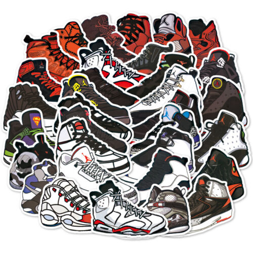 100 PCS Michael Jordan Basketball Shoes AJ Luggage Laptop Skateboard stickers