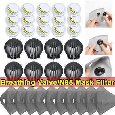 Face Mask Air Breathing Valve Respirator Valve Mouth Filter Replacement Part Us